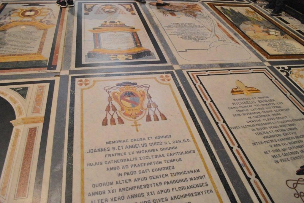 Floor Memorials St Pauls Cathedral Mdina