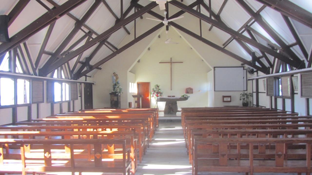 Inside Cap Malheureux Church