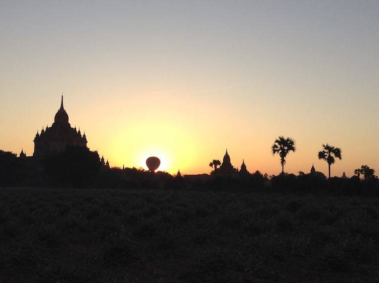 Bagan Sunset Myanmar Temples