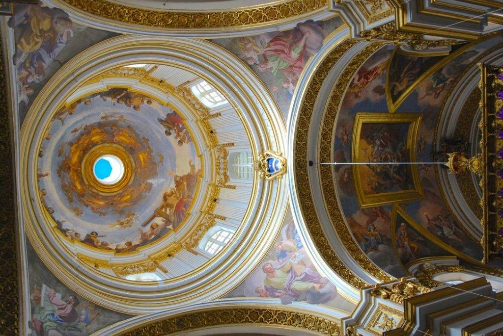 Ceiling Frescoes St Pauls Cathedral Mdina