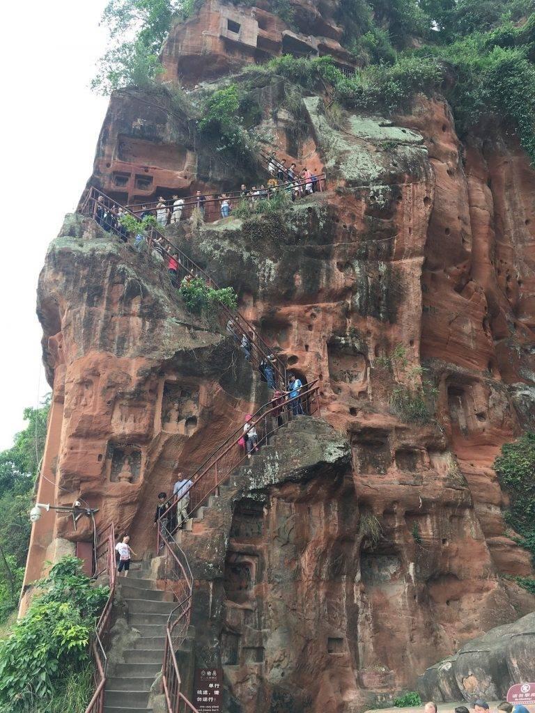 Climbing the Biggest Buddha in the World Leshan