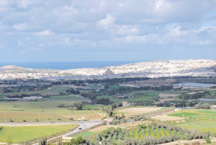 View of Malta from Mdina walls
