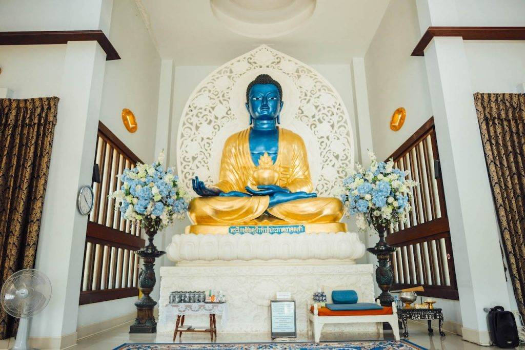 Blue Medicine Buddha Female Thai Buddhist Monastery
