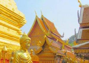 Visiting Wat Doi Suthep at Songkran