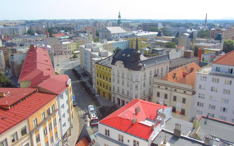 Opava view from Above