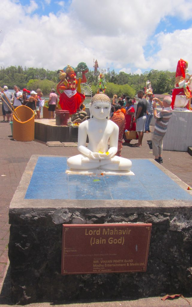 Jain God at Ganga Talao - most famous of the temples in Mauritius