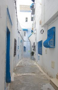 Exploring the Beautiful Winding Streets of Hammamet Kasbah