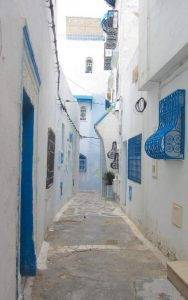 Exploring the Beautiful Winding Streets of Hammamet Kasbah
