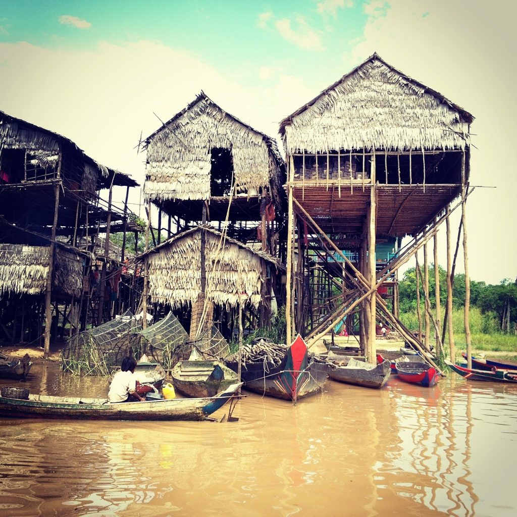 Stilt Tonle Sap Cambodia