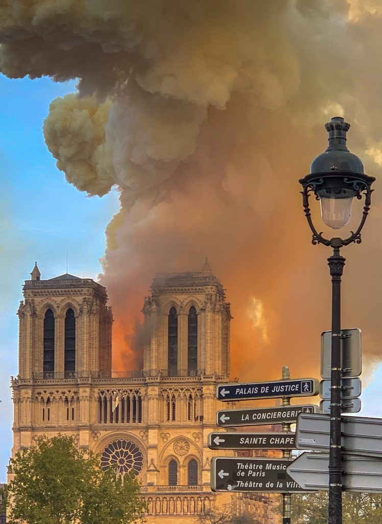 Notre Dame on Fire 15th April 2019
