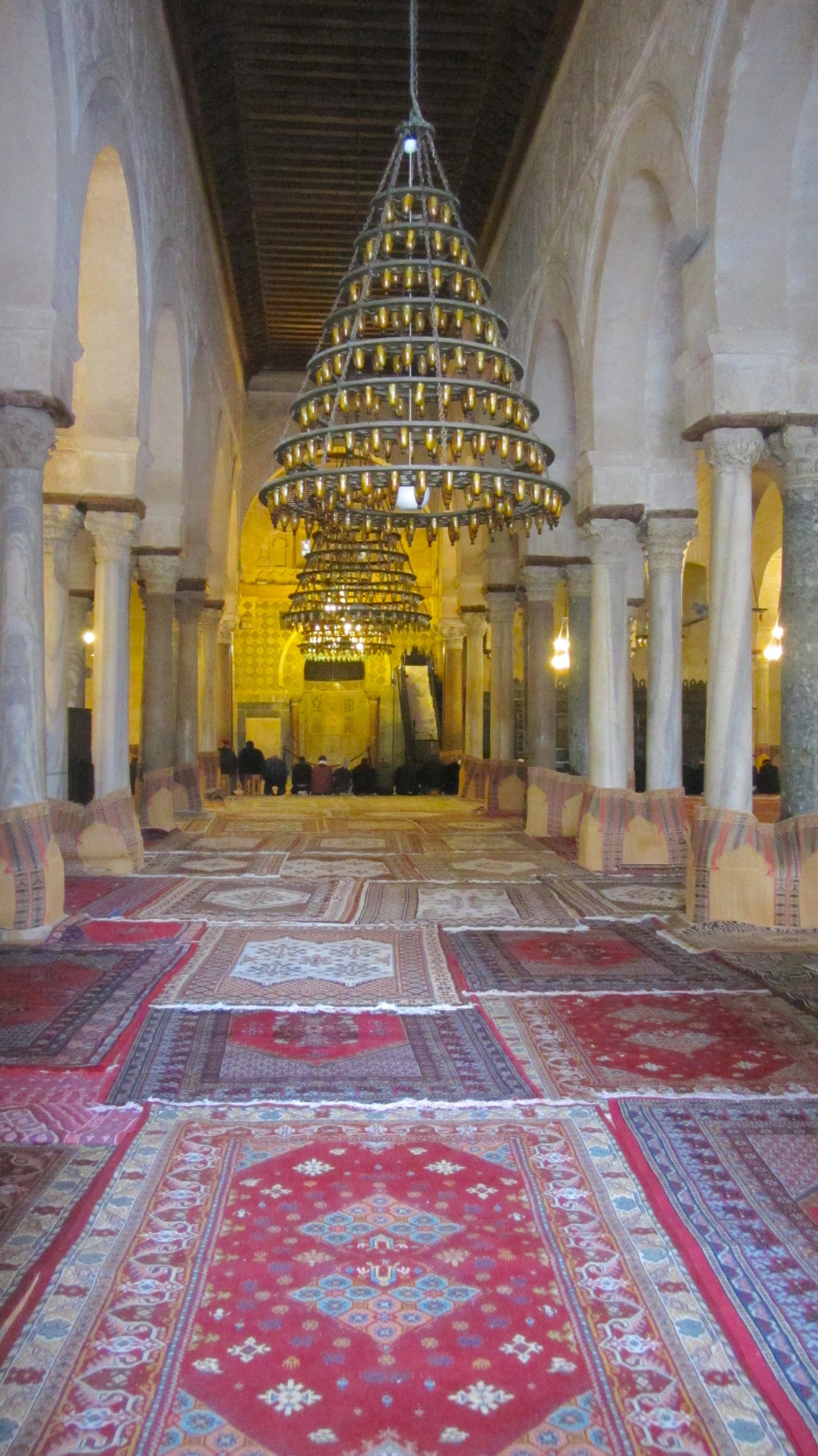 Inside Kairouan Great Mosque