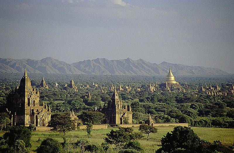 Bagan tours - a view across Bagan with many temples visit