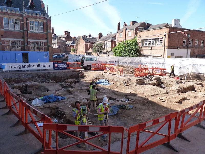 Greyfriarys excavations 2013 Leicester