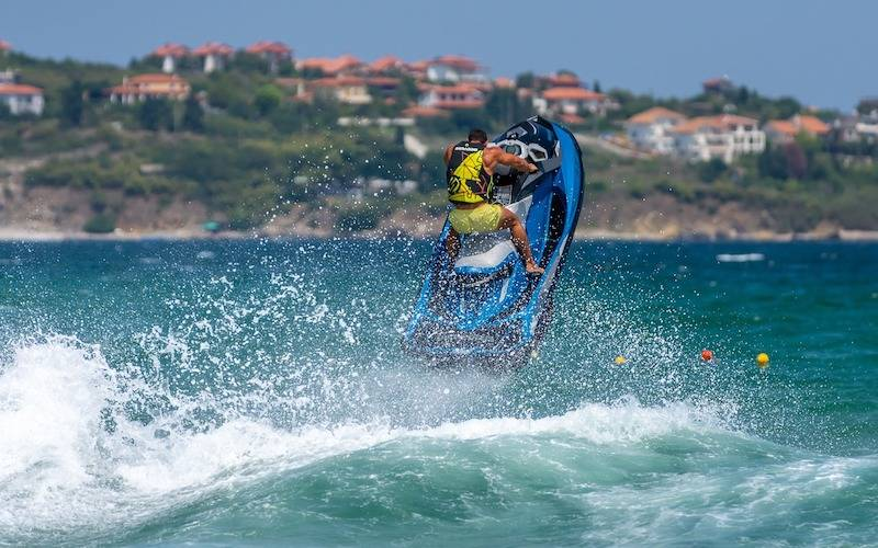 reasons to visit Sozopol - a person on a jet ski