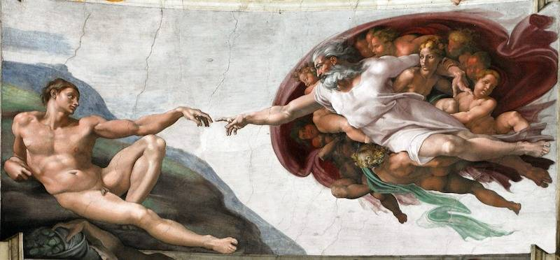 Creation of Man Sistine Chapel Rome