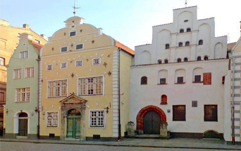 three brothers tall houses Latvia