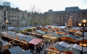 A Rainy day at Manchester Christmas Market!