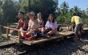 Riding the Battambang Bamboo Train