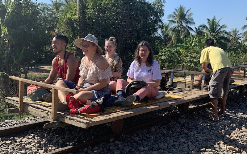 Siem Reap to Battambang - Bamboo Train
