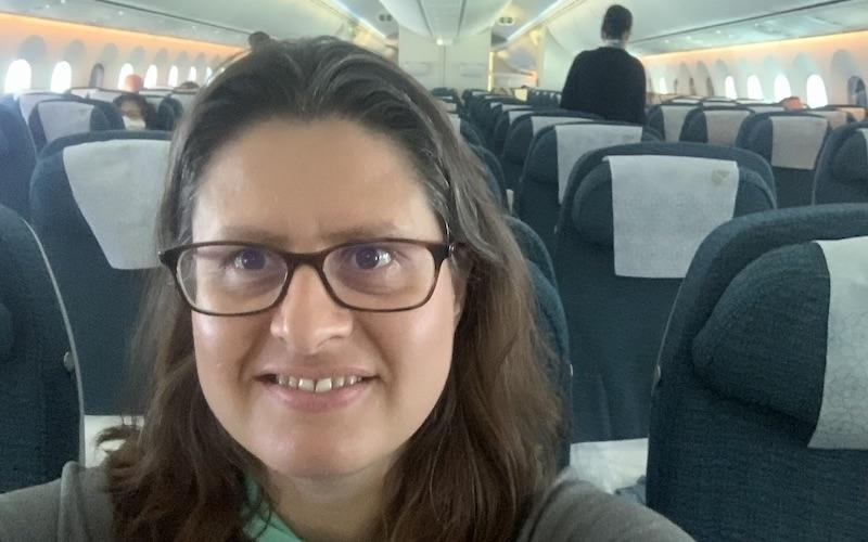 Muscat to Manchester Oman Air Solo Female Traveller