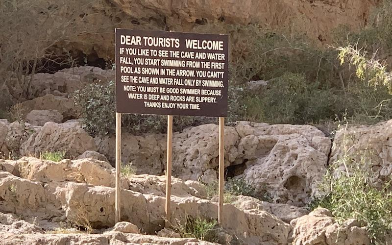 Sign for Tourists