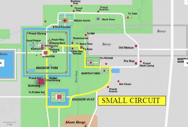 Angkor Wat Small Circuit Map