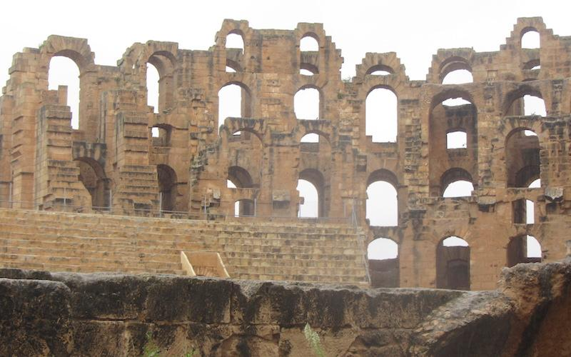 Amphitheatre of El Djem -Tunisia has a better preserved Colosseum than Rome!