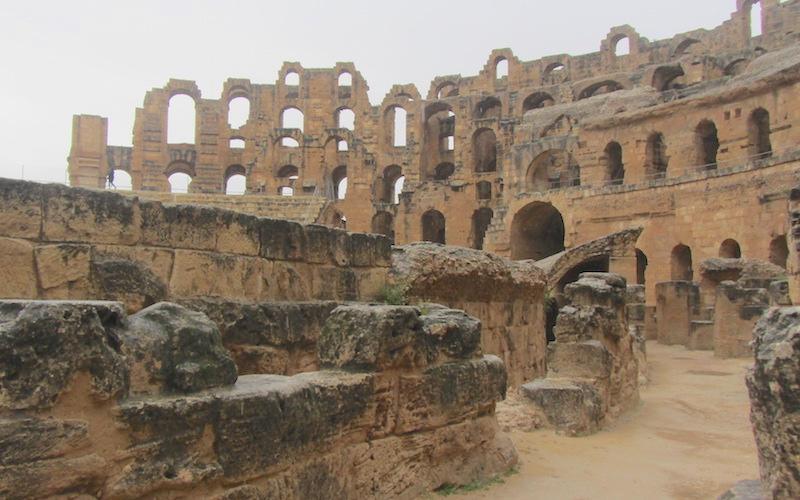 Inside El Djem Amphitheatre